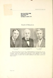 Page 8, 1929 Edition, Huntingburg High School - Optimist Yearbook (Huntingburg, IN) online yearbook collection