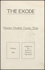Page 5, 1923 Edition, Thorntown High School - Exode Yearbook (Thorntown, IN) online yearbook collection