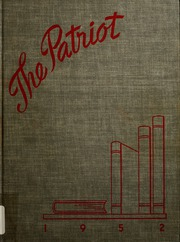 1952 Edition, Shields High School - Patriot Yearbook (Seymour, IN)