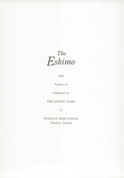 Page 5, 1950 Edition, Winslow High School - Eskimo Yearbook (Winslow, IN) online yearbook collection