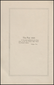 Page 6, 1923 Edition, Fort Branch High School - Key Yearbook (Fort Branch, IN) online yearbook collection