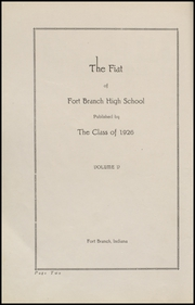 Page 6, 1926 Edition, Fort Branch High School - Key Yearbook (Fort Branch, IN) online yearbook collection