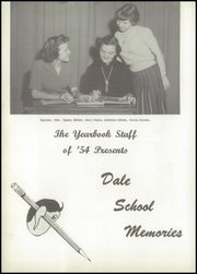 Page 8, 1954 Edition, Dale High School - Memories Yearbook (Dale, IN) online yearbook collection