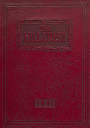 1931 Edition, Shawswick High School - Hillcrest Yearbook (Bedford, IN)