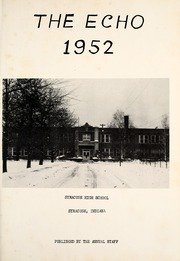 Page 5, 1952 Edition, Syracuse High School - Echo Yearbook (Syracuse, IN) online yearbook collection