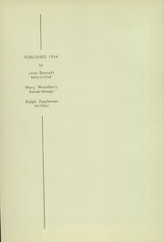 Page 6, 1934 Edition, Lincoln High School - Mayflower Yearbook (Plymouth, IN) online yearbook collection
