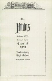 Page 5, 1939 Edition, Veedersburg High School - Pintus Yearbook (Veedersburg, IN) online yearbook collection