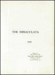 Page 5, 1949 Edition, St Marys High School - Immaculata Yearbook (Michigan City, IN) online yearbook collection