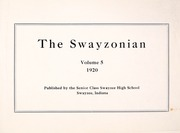 Page 7, 1920 Edition, Swayzee High School - Swayzonian Yearbook (Swayzee, IN) online yearbook collection