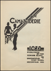Page 9, 1932 Edition, Greenfield High School - Camaraderie Yearbook (Greenfield, IN) online yearbook collection