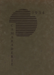 Greenfield High School - Camaraderie Yearbook (Greenfield, IN) online yearbook collection, 1934 Edition, Page 1