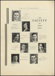 Page 12, 1934 Edition, Greenfield High School - Camaraderie Yearbook (Greenfield, IN) online yearbook collection