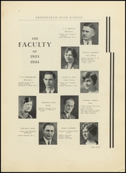 Page 13, 1934 Edition, Greenfield High School - Camaraderie Yearbook (Greenfield, IN) online yearbook collection