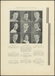 Page 15, 1934 Edition, Greenfield High School - Camaraderie Yearbook (Greenfield, IN) online yearbook collection