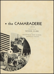 Page 7, 1934 Edition, Greenfield High School - Camaraderie Yearbook (Greenfield, IN) online yearbook collection