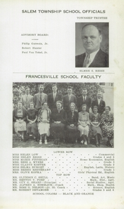 Page 7, 1937 Edition, Francesville High School - Francillian Yearbook (Francesville, IN) online yearbook collection