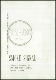 Page 6, 1958 Edition, Carlisle Haddon High School - Smoke Signal Yearbook (Carlisle, IN) online yearbook collection