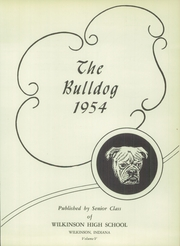 Page 7, 1954 Edition, Wilkinson High School - Bulldog Yearbook (Wilkinson, IN) online yearbook collection