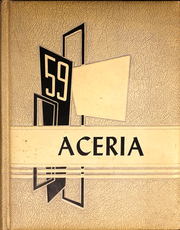 1959 Edition, Waynetown High School - Aceria Yearbook (Waynetown, IN)