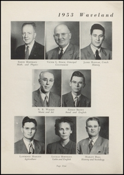 Page 6, 1953 Edition, Waveland High School - Hornets Nest Yearbook (Waveland, IN) online yearbook collection