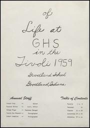 Page 6, 1959 Edition, Goodland High School - Tivoli Yearbook (Goodland, IN) online yearbook collection
