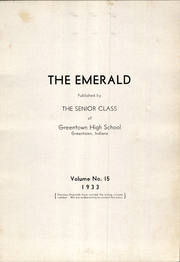 Page 5, 1933 Edition, Greentown High School - Emerald Yearbook (Greentown, IN) online yearbook collection