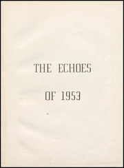 Page 7, 1953 Edition, Perrysville High School - Echoes Yearbook (Perrysville, IN) online yearbook collection