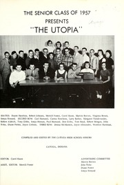 Page 5, 1957 Edition, Cayuga High School - Utopia Yearbook (Cayuga, IN) online yearbook collection