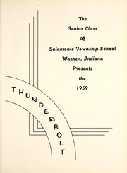 Page 5, 1959 Edition, Salamonie Township High School - Thunderbolt Yearbook (Warren, IN) online yearbook collection