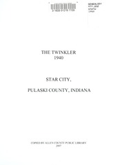 Page 5, 1940 Edition, Star City High School - Twinkler Yearbook (Star City, IN) online yearbook collection
