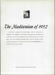 Page 5, 1952 Edition, Madison Township High School - Madisonian Yearbook (Wakarusa, IN) online yearbook collection