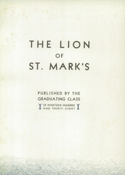 Page 7, 1938 Edition, Saint Marks School - Lion Yearbook (Southborough, MA) online yearbook collection