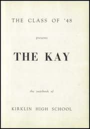 Page 5, 1948 Edition, Kirklin High School - Kay Yearbook (Kirklin, IN) online yearbook collection