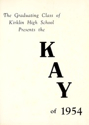 Page 5, 1954 Edition, Kirklin High School - Kay Yearbook (Kirklin, IN) online yearbook collection