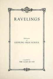 Page 11, 1929 Edition, Leesburg High School - Blazer Yearbook (Leesburg, IN) online yearbook collection