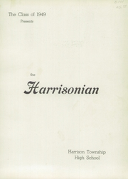 Page 5, 1949 Edition, Harrison Township High School - Harrisonian Yearbook (Gaston, IN) online yearbook collection