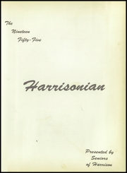 Page 7, 1955 Edition, Harrison Township High School - Harrisonian Yearbook (Gaston, IN) online yearbook collection