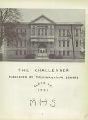 Page 7, 1951 Edition, Michigantown High School - Challenger Yearbook (Michigantown, IN) online yearbook collection