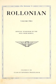 Page 7, 1924 Edition, Roll High School - Rollonian Yearbook (Roll, IN) online yearbook collection