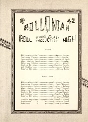 Page 9, 1942 Edition, Roll High School - Rollonian Yearbook (Roll, IN) online yearbook collection