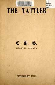 Page 3, 1921 Edition, Decatur Catholic High School - Tattler Yearbook (Decatur, IN) online yearbook collection