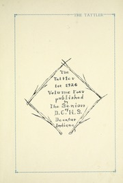 Page 11, 1926 Edition, Decatur Catholic High School - Tattler Yearbook (Decatur, IN) online yearbook collection