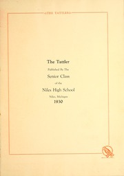 Page 5, 1930 Edition, Niles High School - Tattler Yearbook (Niles, MI) online yearbook collection