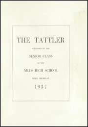Page 5, 1937 Edition, Niles High School - Tattler Yearbook (Niles, MI) online yearbook collection