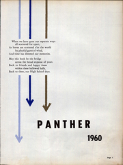 Page 7, 1960 Edition, Belle Union High School - Panther Yearbook (Fillmore, IN) online yearbook collection