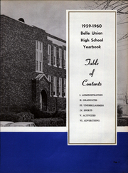 Page 9, 1960 Edition, Belle Union High School - Panther Yearbook (Fillmore, IN) online yearbook collection