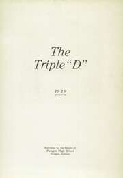 Page 7, 1929 Edition, Paragon High School - Triple D Yearbook (Paragon, IN) online yearbook collection