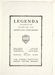 Page 5, 1922 Edition, Arthur Hill High School - Legenda Yearbook (Saginaw, MI) online yearbook collection