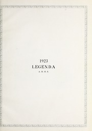 Page 9, 1923 Edition, Arthur Hill High School - Legenda Yearbook (Saginaw, MI) online yearbook collection