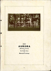 Page 7, 1917 Edition, Manchester College - Aurora Yearbook (North Manchester, IN) online yearbook collection
